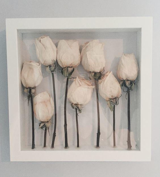Shadow Box Roses via Esla Moda