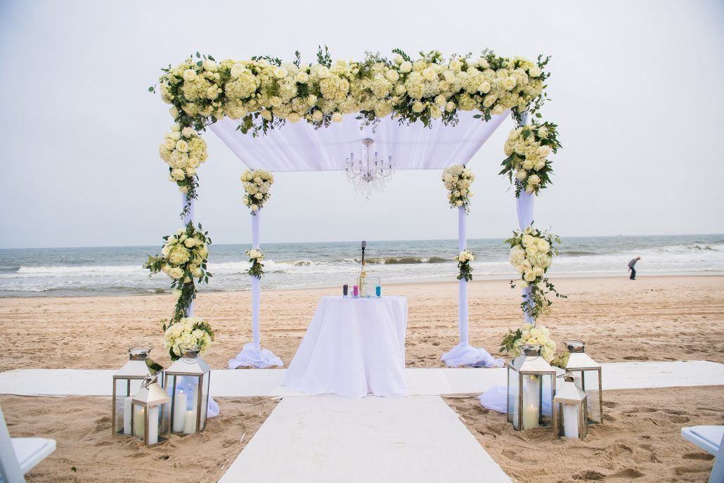 Becca and Dave Wedding - Bridgehampton Tennis & Surf Club - Ceremony - Chuppah - Photography by Andre Maier