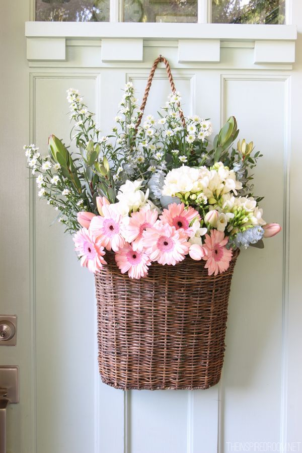 Hanging Flowers via The Inspired Room