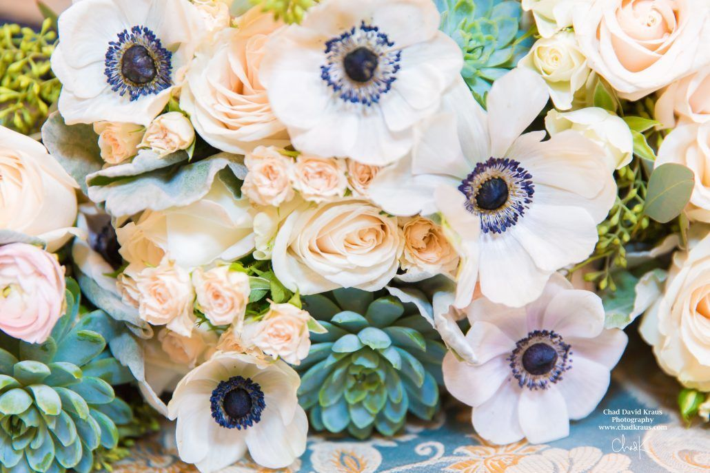 Anemones / Kristen & Dave / New York Botanical Gardens / Chad David Kraus Photography