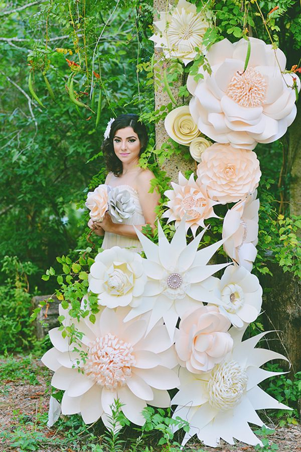 Paper flower wedding by bride blossom nycs only luxury wedding paper flowers via hey wedding lady flowers by balushka paper artisttry photo by elisheva mightylinksfo