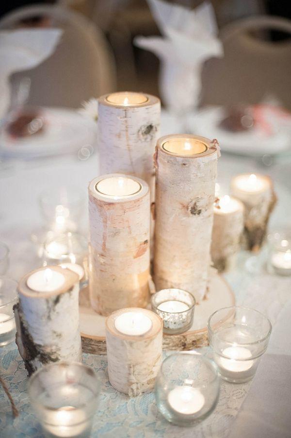 Birch Branch Candles via Deer Pearl Flowers