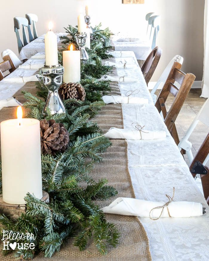 Holiday Table Centerpiece - via Bless'er House