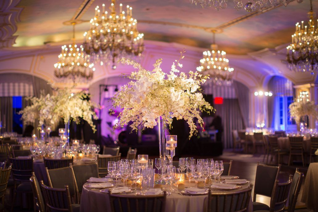 High Centerpiece / Hannah & Mark / The St. Regis New York / Shira Weinberger Photography