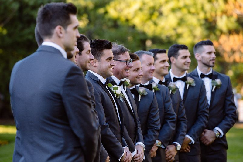 Groomsmen / Alyson & Gary / The Estate at East Wind / Kate Neal Photography