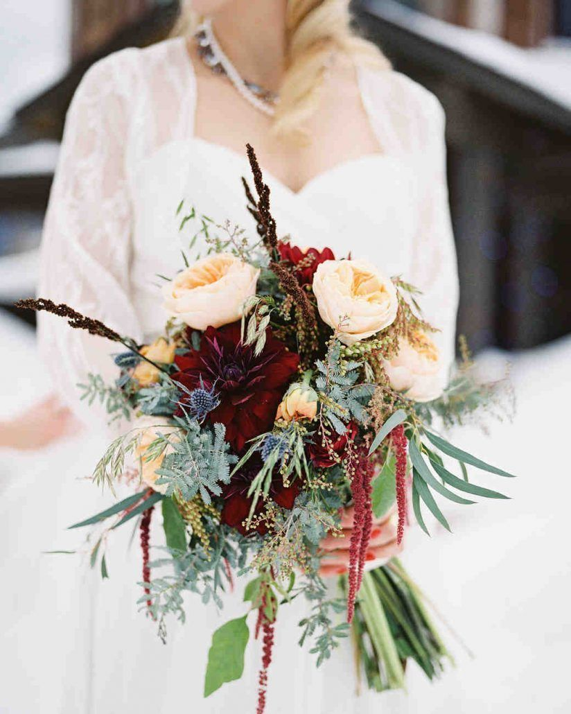 Burgundy Bouquet - by Statice Floral - photo by O'Malley Photographers - via Martha Stewart Weddings
