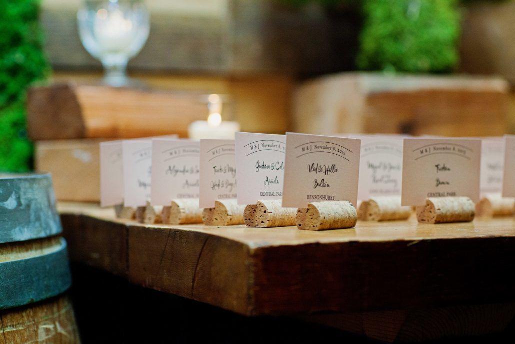 Margarita & Jose Wedding - Card Table - Wine Corks - Brooklyn Winery - Brind Amour Photography