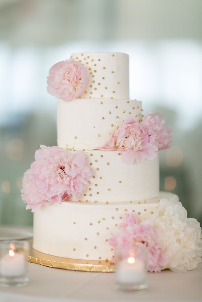 Blush Peony - Wedding Cake - Battery Gardens - photo by Cody Raisig