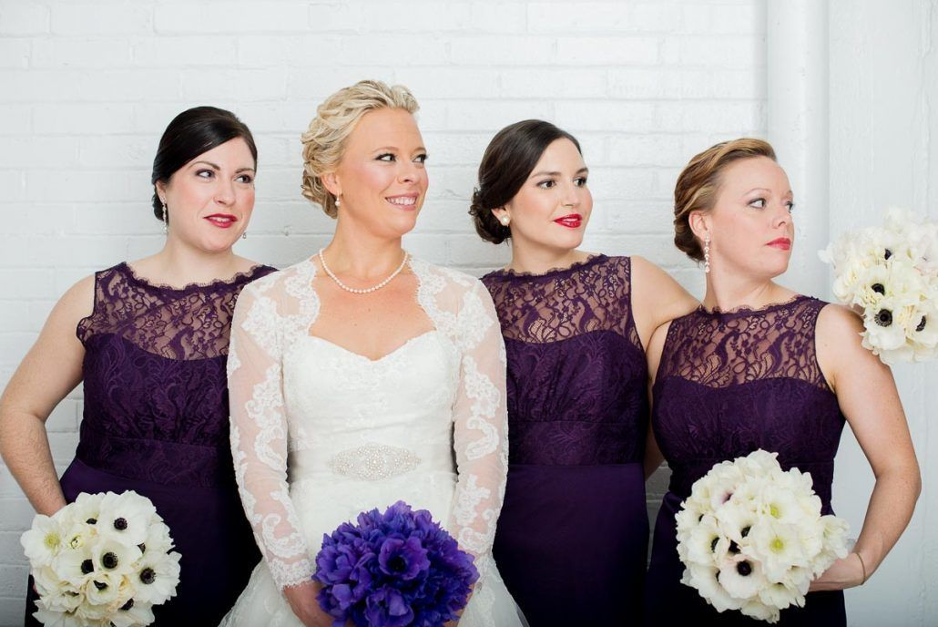 Samantha & Aaron - Purple Anemone Bouquet - Studio 450 - by Photo Pink Photography