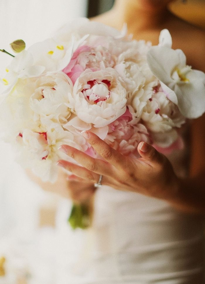 White and Blush Peony Bouquet - Addison Park - Photo by Binary Flips Photography