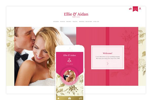 Appy Couple - Customized Wedding App and Website - via Snippet and Ink.com