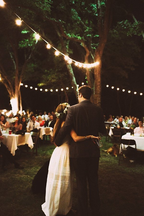 Outdoor spring wedding ideas trends by bride blossom nycs backyard wedding ideas string lights via oh best day ever aloadofball Gallery