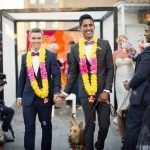 Brad & Manjil - Indian Garland - Studio 450 - Photo by Weddings By Two