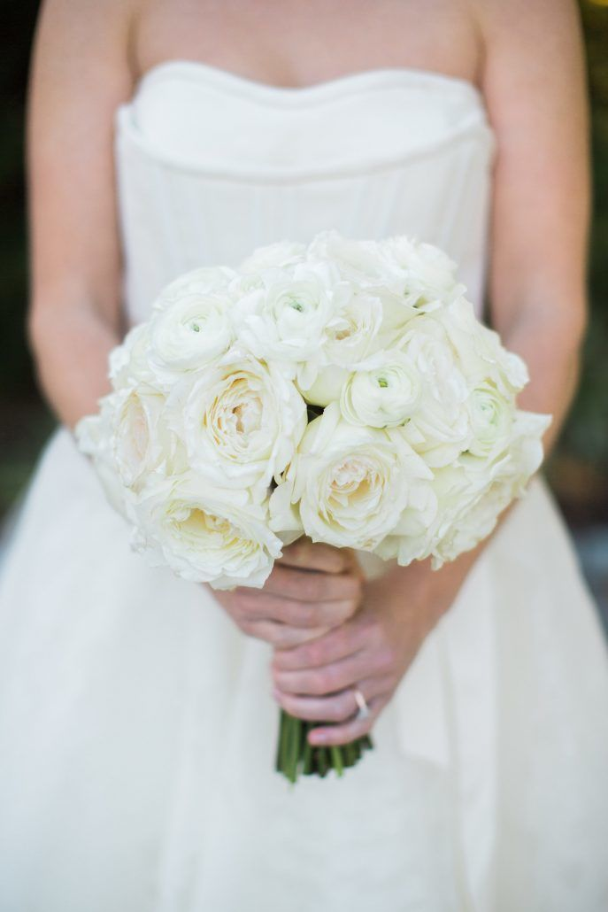 Carly and Andrew - White Bridal Bouquet - Bridgehampton Surf & Tennis Club -Photography by Katie Kett