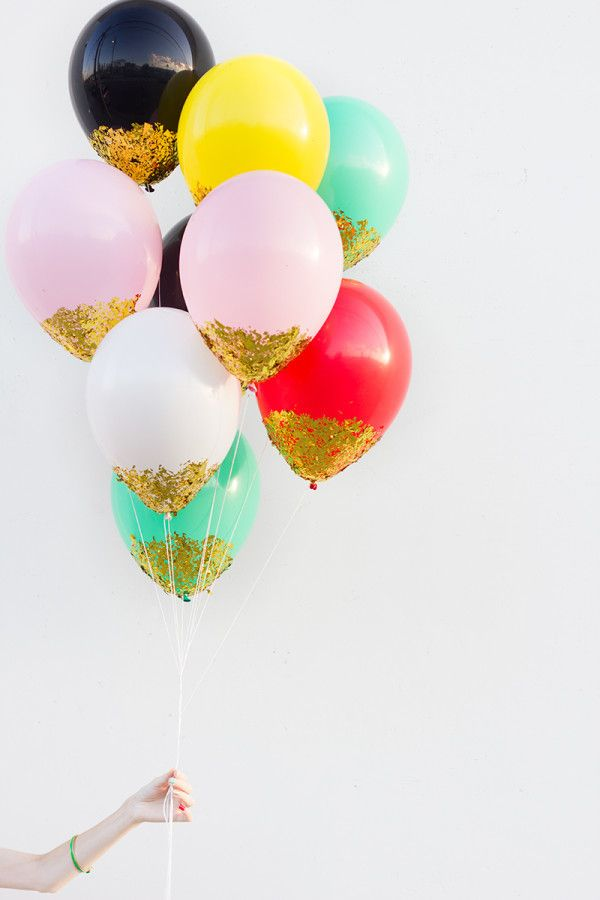 DIY Confetti-Dipped Balloons - via Studio DIY. com