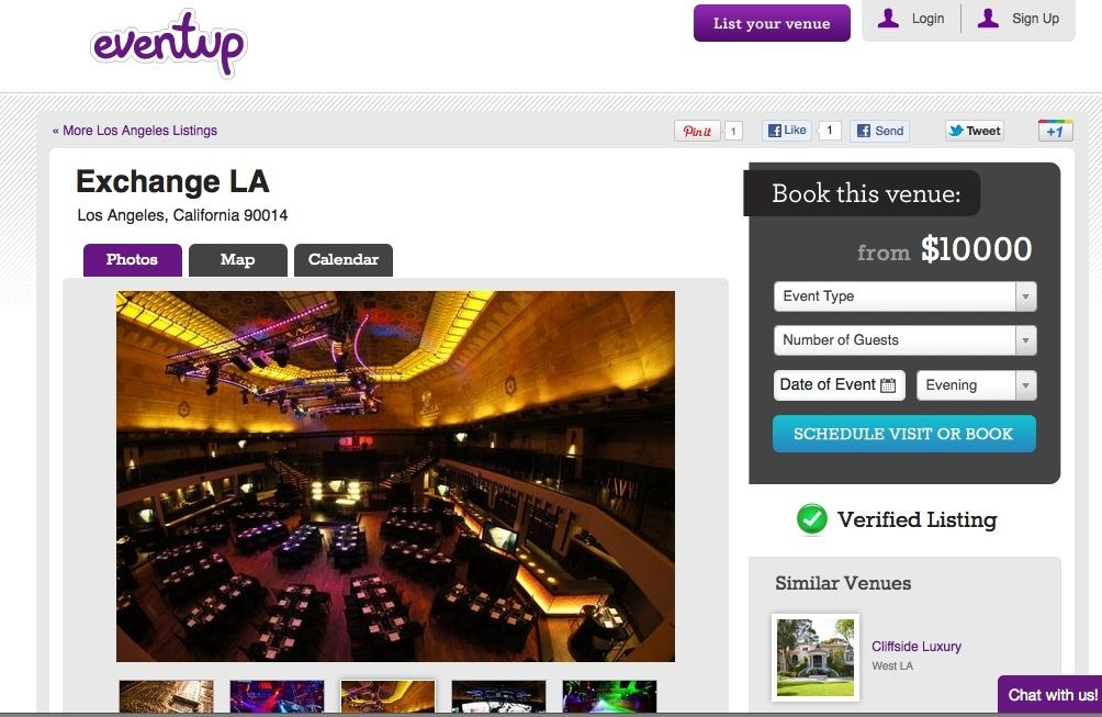 Eventup - Venue Search Engine - via Gigaom.com