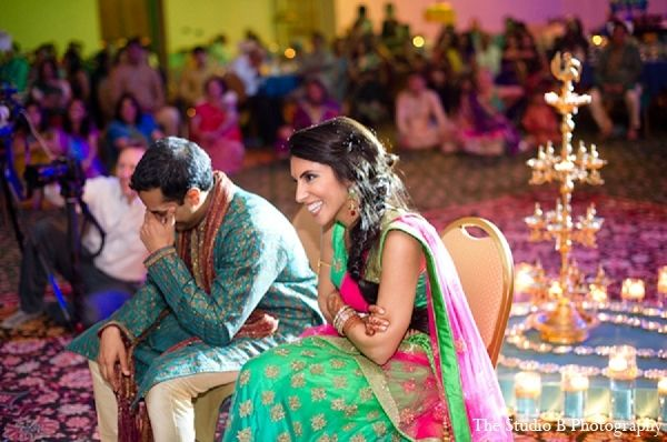Indian wedding traditions by bride blossom nycs only luxury indian wedding sangeet bride and groom via maharani weddings junglespirit Image collections