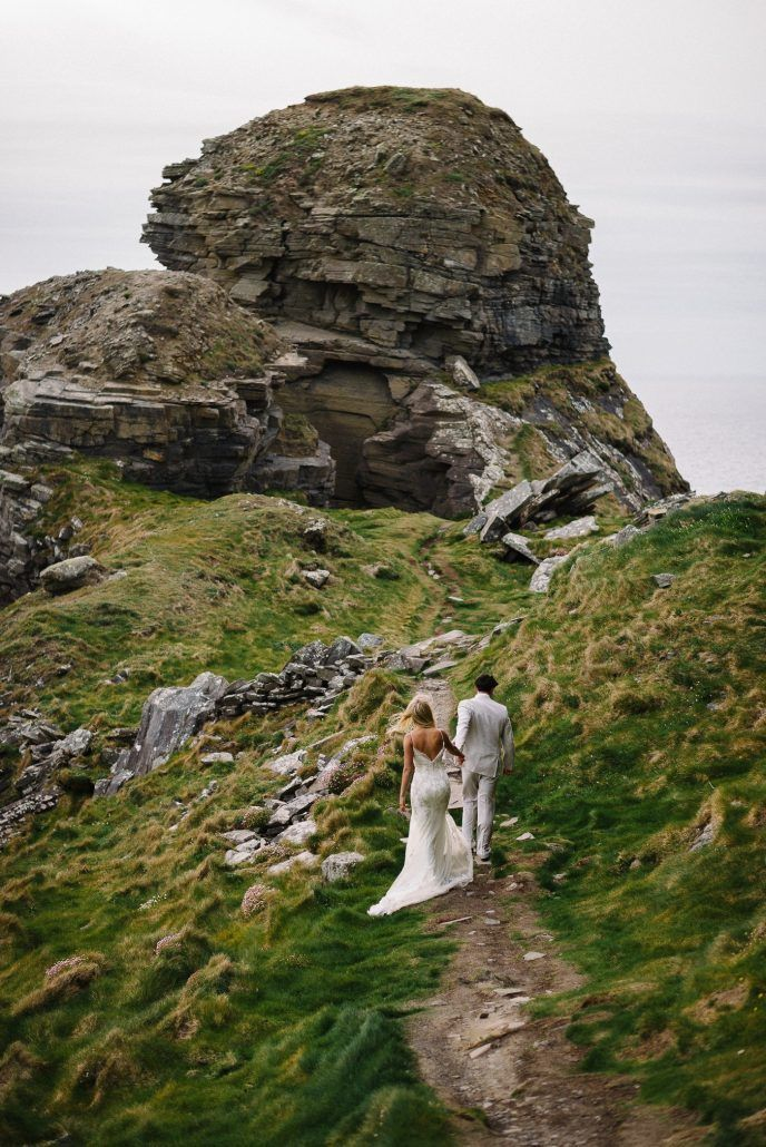 Jacob & Brittany - Intimate Cliffs of Moher - Ireland Wedding - via Epic Love Photography
