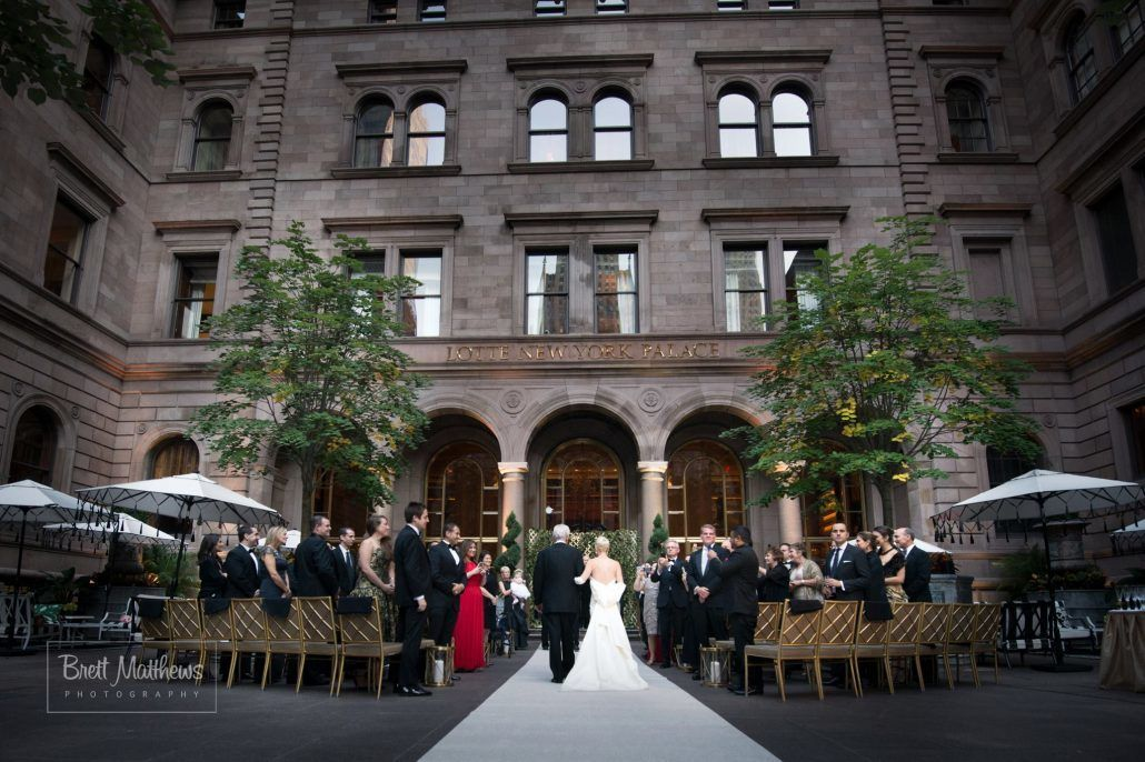 Tracy and Eric - Lotte New York Palace Hotel - Courtyard Ceremony - photo by Brett Matthews Photography