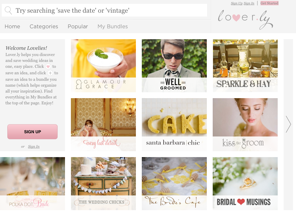 Loverly - Wedding Planning & Ideas - Tech Insider - via Business Insider.com