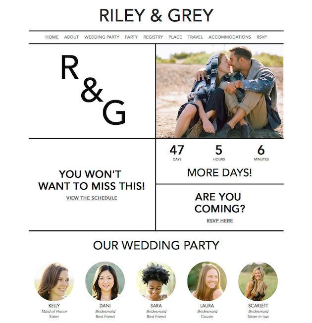 Riley and Grey -Wedding Websites -via Bridal Musings.com