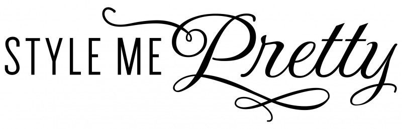 Style Me Pretty - Logo - via The Garter Girl.com