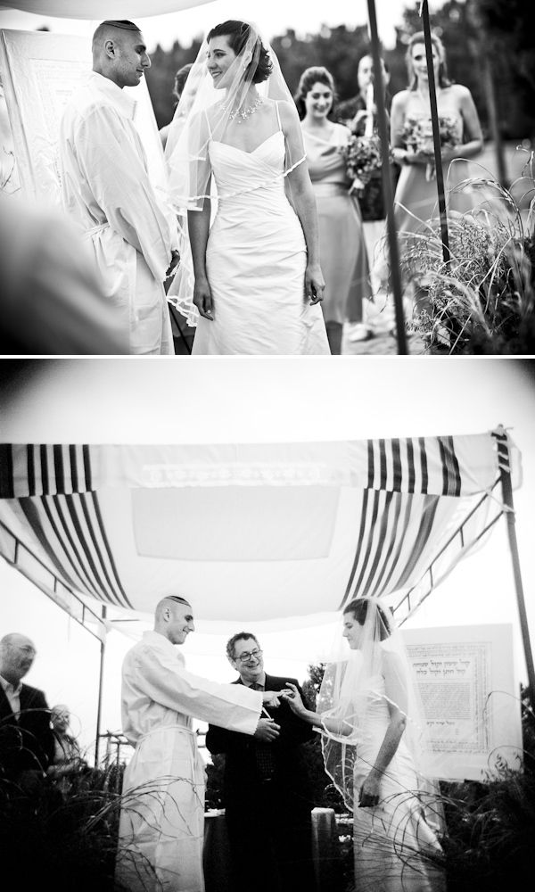 The Kiddushin - Betrothal - Jewish Wedding Traditions - Avi & Eleana - photo by Twin Lens Images - via Little Black Book