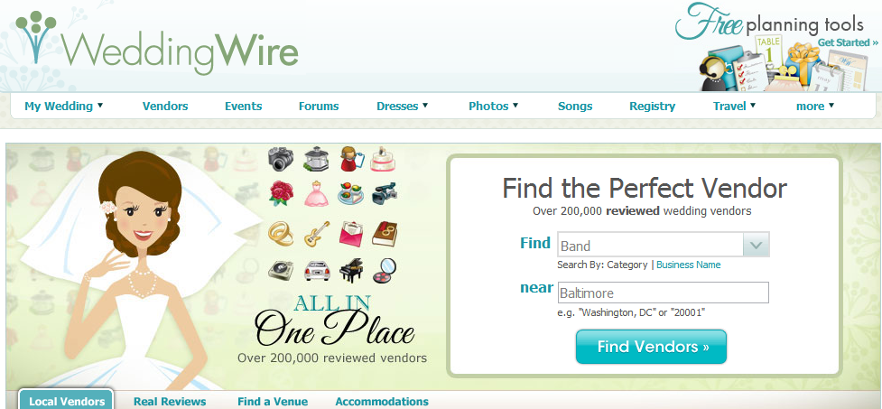 The Wedding Wire - Venue Search Engine