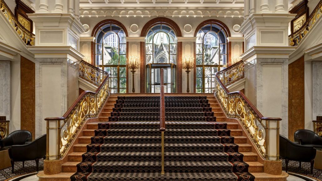 Welcome to Lotte New York Palace - Grand Staircase - via LotteNYPalace.com