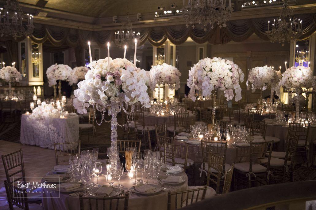 Anna & Matthew Wedding - High Centerpieces - Pierre Hotel NYC - Photography by Brett Matthews