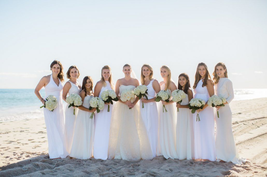 Carly & Andrew Wedding - Bridgehampton Tennis & Surf Club - Bride - Bridesmaids - Bouquets - Photography by Katie Kett