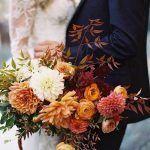 5 Autumn Sunset -Bright - Fall -Wedding - Color Palette - via Chic Vintage Brides.com