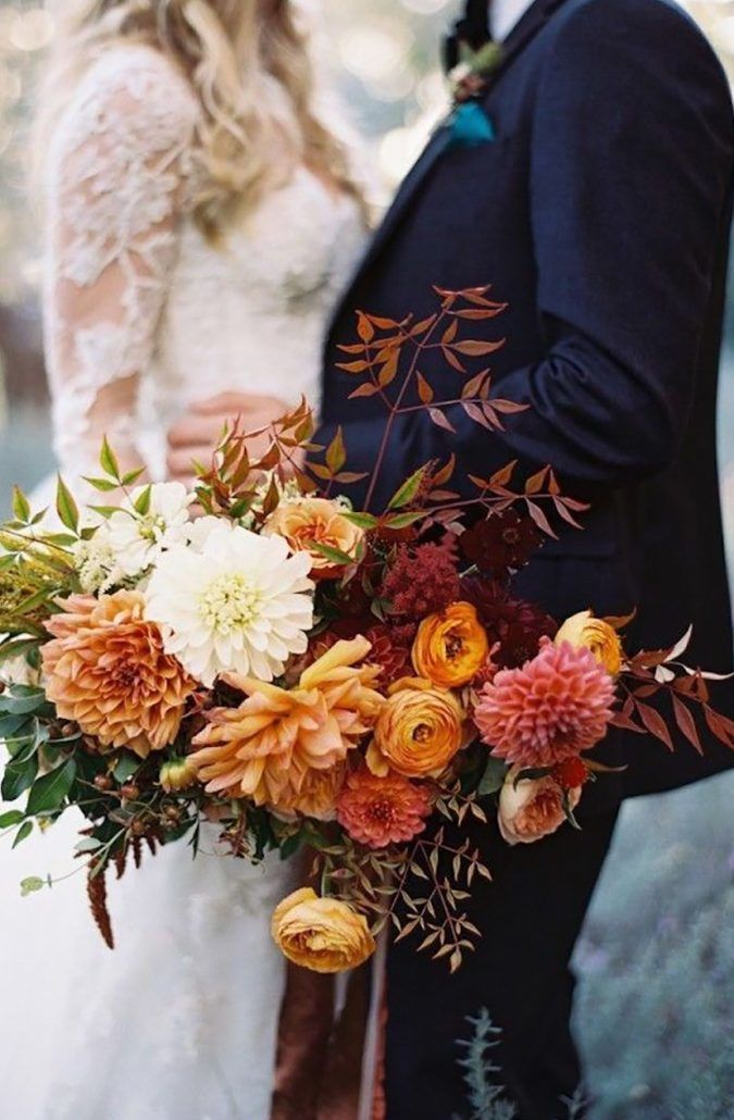 5 Autumn Sunset - Bright - Fall - Wedding - Color Palette - via Chic Vintage Brides.com