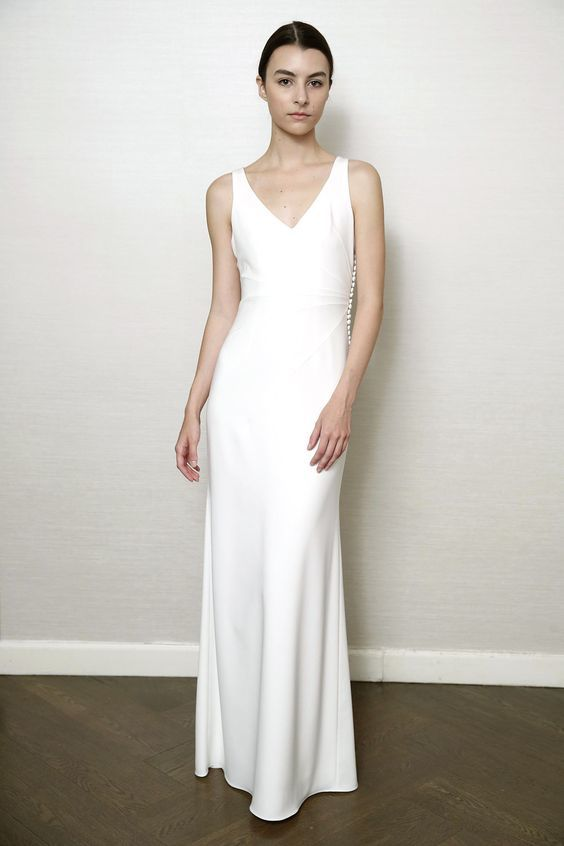 Bridal Gown - Streamline Satin - Austin Scarlett - via WWD.com