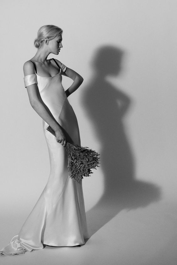 Bridal Gown - Streamline Satin - Carolina Herrera - via WWD.com