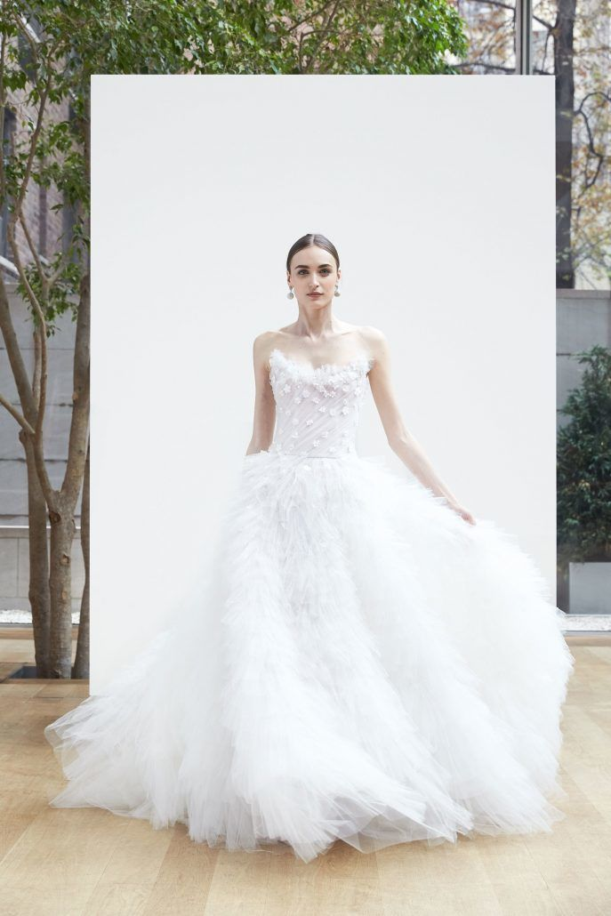 Bridal Gown - Volume - Oscar de La Renta - via Vogue.com