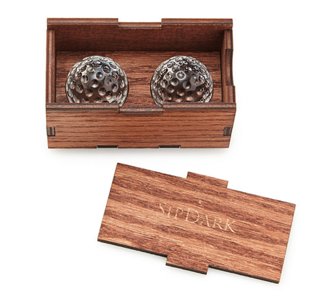 Golf Ball Whiskey Chillers - via Uncommon Goods.com
