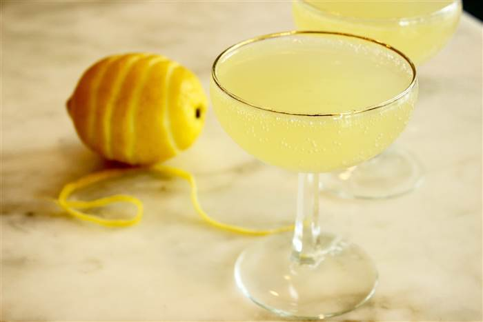 Limoncello Prosecco Cocktail Float - Maureen Petrosky - via Today.com