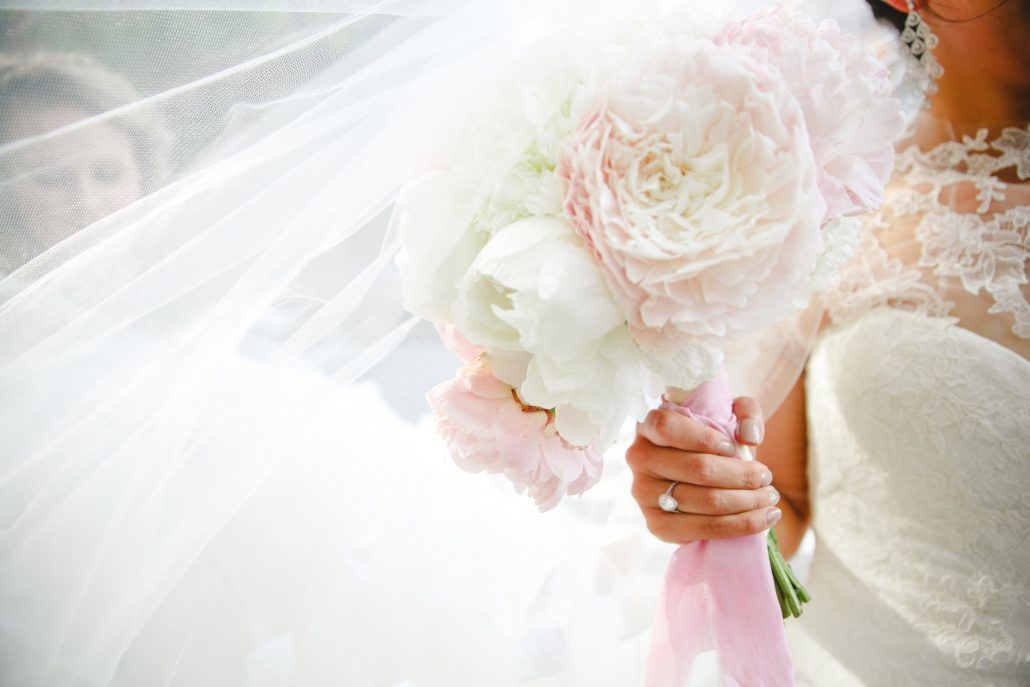 Mary & Galen Wedding - Blush and White Peony Bouquet - The Hudson Hotel NYC - Photography by Jacquelyne Pierson Weddings