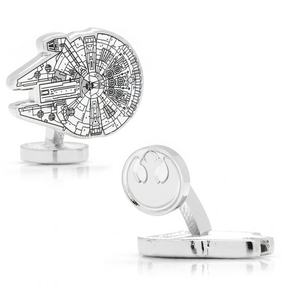 Millennium Falcon Blueprint Cufflinks - via Cufflinks.com