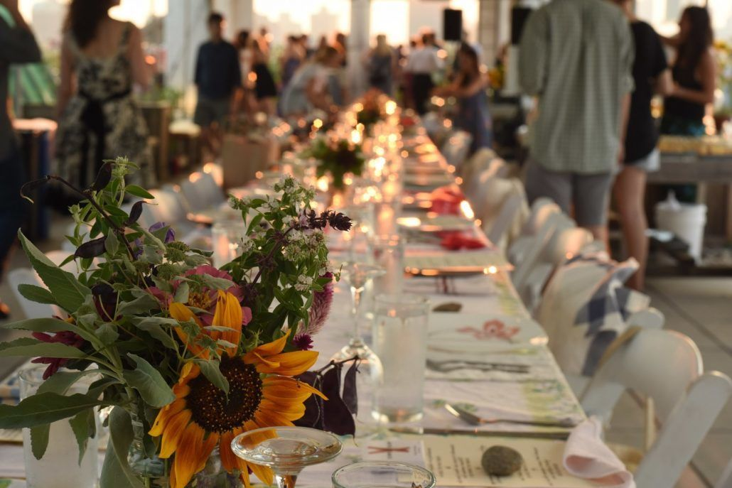 Brooklyn Grange - Brooklyn NY - Farm to Table Dining - Engagement Party Venue Ideas - via Brooklyn Grange.com
