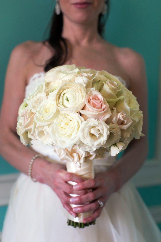 Cheryl & Adam Wedding - White Bouquets - St Regis NYC - by Agaton Strom Photography
