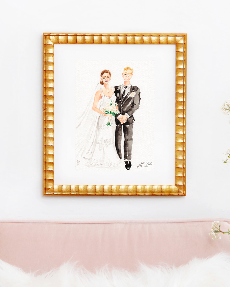 Custom Watercolor Wedding Portrait Painting - Wedding Portrait - The Wedding Shop - via Simply Jessica Marie.com