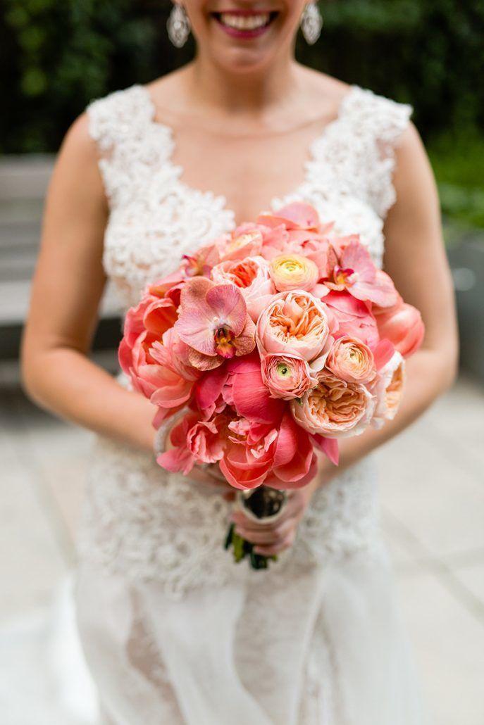 Jacqueline & Gary - Bridal Bouquet - Trump Soho - Casey Fatchett Photography