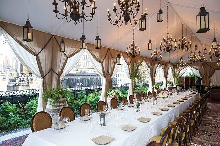 The Nomad Rooftop - New York City - The Nomad Hotel - 12 Stories Up - Engagement Party Venue Ideas - via BizBash.com