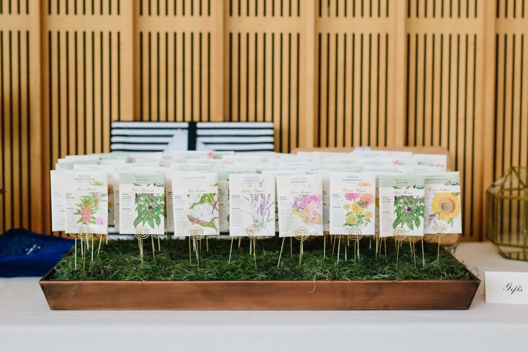 Cammie & Peter Wedding - Wedding Favors - Flower Seed Packets - Brooklyn Botanic Garden - Photography by Nicki Sebastian
