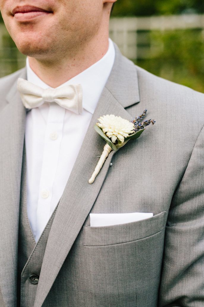 Cammie & Peter Wedding - Groom - Boutonniere - Brooklyn Botanic Garden - by Nicki Sebastian -Photography