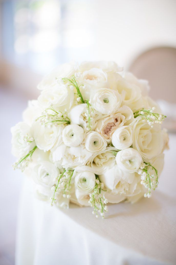 Deborah & Geraldo - Garden Rose Tibet Rose Ranunculus Lily of The Valley Bouquet - Pearl River Hilton - by ColeandKiera