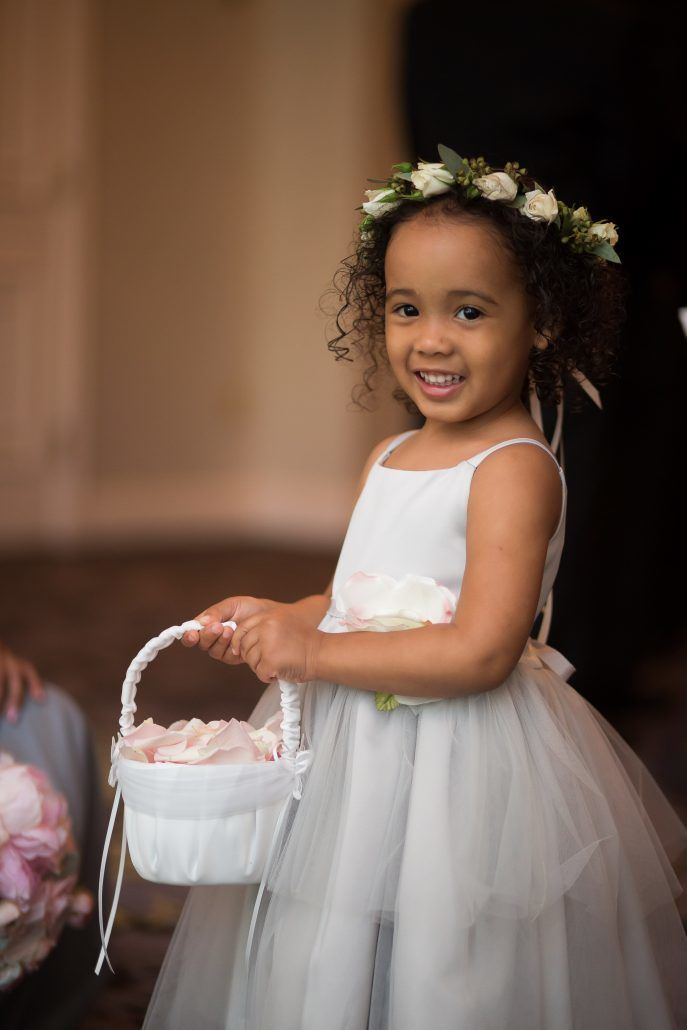Deborah & Geraldo - Flower Girl - Head Wreath - Babys Breath - Pearl River Hilton - Cole & Kiera Photography