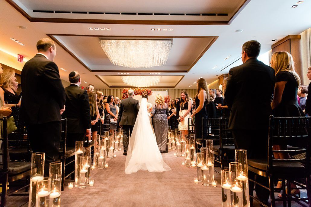 Jacqueline & Gary - Bride - Ceremony Aisle - Trump Soho - Casey Fatchett Photography